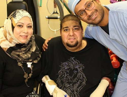 The heart of a lion: Samir Alniswan is conquering devastating injuries with courage and expert care at the Firefighters Burn Center