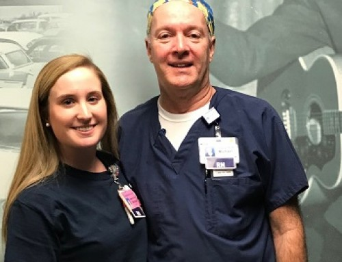Father and daughter Mike and Morgan Embrey share a passion for nursing and the mission of Regional One Health